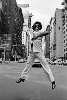 "James Brown - An American recording artist and musician :: He is one of the founding fathers of funk music, and he largely influenced the development of several music genres. James Brown is the ""The Godfather of Soul"". Photographed by Allan Tannenbaum #GraveyardGreats #JamesBrown"