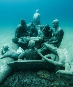 Jason deCaires Taylor's created Europe's first underwater museum, Museo Atlántico, located in the waters of Lanzarote.