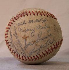 Detroit Tigers 1938 World Series game baseball