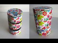 DIY Cute mini 3 drawers organizer - Recycling Cardboard - YouTube