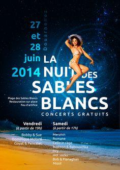 Proposition d'affiche pour le festival des sables blancs de Douarnenez, édition 2014. Maheureusement, l'affiche était déjà imprimée, mais elle a retenu l'attention des organisateurs. Peut-être pour 2015 ?...