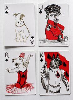 おもしろ犬が描かれたトランプ - Excite Bit コネタ
