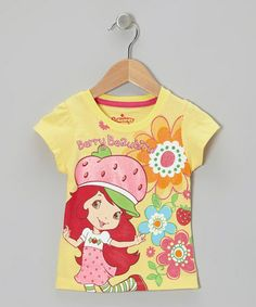 Take a look at this Pastel Yellow Strawberry Tee - Toddler & Girls by Strawberry Shortcake on #zulily today!