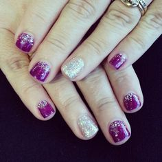 Another Mani :-) using Grape & Disco Ball