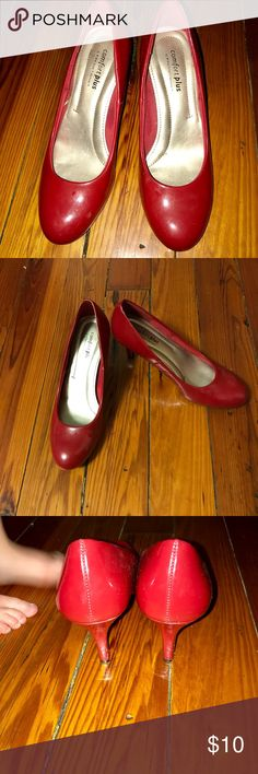 Comfort Plus by Predictions red pumps Comfort Plus by Predictions red pumps, size 6, lightly worn Predictions Shoes Heels