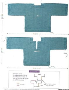 Pull Turchese ~ Phildar n 052 ~ 3-6-12 mesi