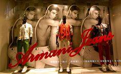 Armani Nyc, Retail Merchandising, Retail Windows, New York Style, Window Design, Giorgio Armani, My Hero, Ballet Shoes, Creative