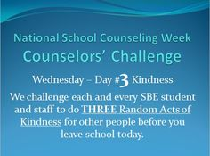 Last year was my first year back in the role of a school counselor since and National School Counseling Week completely sneaked up on me. I was surprised and delighted that some of the teach. National School Counseling Week, Elementary School Counseling, School Counselor, Elementary Schools, Counseling Office, Group Counseling, School Jobs, School Social Work, School Today