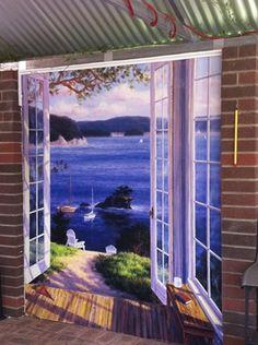 Interesting indoor Outdoor Mural