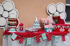 Red & Teal 1st Birthday