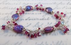 Gorgeous dyed Fuchsia freshwater pearls and by BelhavenStudios