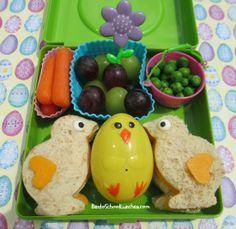 Easter Chicks bento in @Trudeau sandwich box. www.facebook.com/BentoSchoolLunches
