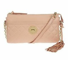 With spring just around the corner, this Isaac Mizrahi Live! Bridgehampton Quilted Crossbody is a must for your wardrobe!