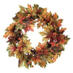 Autumn Harvest Maple Leaf Thanksgiving Wreaths Item #48324  Wreaths...
