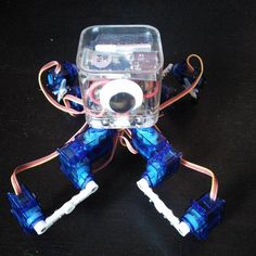 µKubik quadruped robot Cheap and simple tabletop quadruped robot controlled with Python.