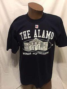 THE ALAMO Honor And Freedom Large Souvenir Tshirt Texas Tx Davy Crockett NEW NWT    eBay