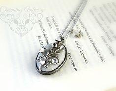 Oval locketoxidized silver locketWish by CharmingAmbrosia on Etsy