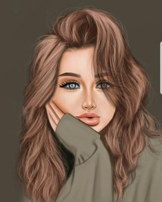Beautiful Girl Drawing, Cute Girl Drawing, Cartoon Girl Drawing, Beautiful Fantasy Art, Cartoon Girl Images, Cute Cartoon Girl, Cartoon Art Styles, Girl Drawing Sketches, Girly Drawings