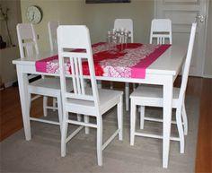 JUVIn valkoiseksi vahattu neliöpöytä #neliö #pöytä #square