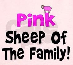 Pink - Sheep of the Family Go Pink, Pink Love, Pretty In Pink, Pink Purple, Pink And Green, My Love, Rose Hill Designs, Pink Sheep, Black Sheep