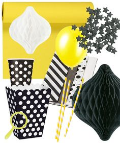 Kids' party with a black and yellow theme