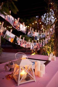 Polaroid wedding garland wedding photo display decor
