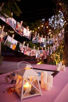 Polaroid wedding garland wedding photo display decor
