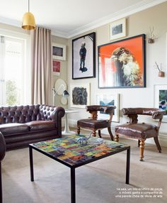 A wall of work of art. #livingroom