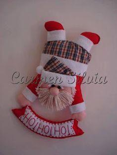 Moldes para Feltro: Papai Noel