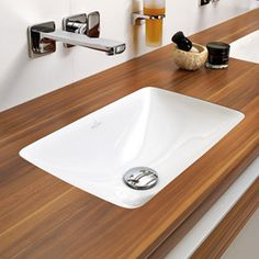 """A under mount lavatory will help to maximize counter space, but be careful, especially of you are using an 18"""" vanity. Make sure the plumber, contractor and the countertop fabricator all understand what has to fit."""