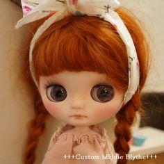 *** Custom Middie Blythe *** Find her here: #blythe #blythedolls #customblythe…