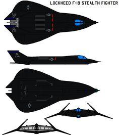 Lockheed F-19 Stealth Fighter by bagera3005.deviantart.com on @DeviantArt