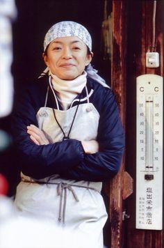 Female master sake brewer . Japan