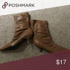 Brown leather boots Brown leather boots size 5M Shoes Heels