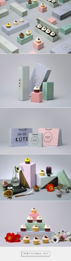 Kute Cake / Kute Cake are an artisan cupcake start-up based in East London design by IWANT design