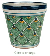 Peacock Flower Pot from Mexico