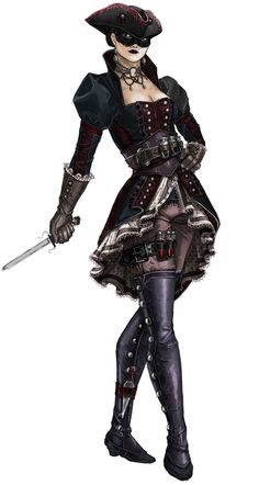View an image titled 'The Puppeteer Concept Art' in our Assassin's Creed IV: Black Flag art gallery featuring official character designs, concept art, and promo pictures. Assassins Creed Female, Assassins Creed Black Flag, Rogue Assassin, Pirate Art, Pirate Woman, Lady Pirate, Fantasy Characters, Female Characters, Character Concept