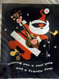 Beatnik Santa ashtray. Nice find.