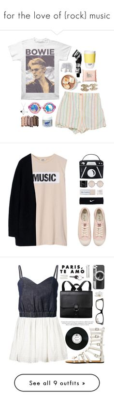"""""""for the love of {rock} music"""" by amiedavis523 ❤ liked on Polyvore featuring Chanel, Urban Decay, Aesop, The Body Shop, The Elephant Family, ROOM COPENHAGEN, ootd, Acne Studios, Juicy Couture and NIKE"""
