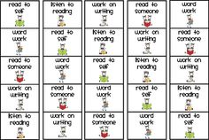 FREE Daily 5 bookmarks! Scroll down to find examples of reading daily 5 stations