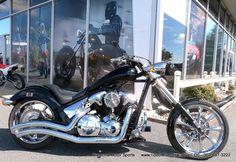 Bills custom Honda Fury Chopper side view