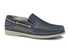 Mens Dockers Chalmers Slip On Boat Shoe Blue Style # 90-33186