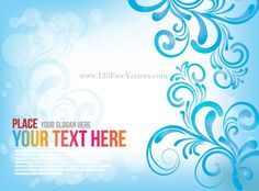 Free Blue Floral Abstract Background Vector