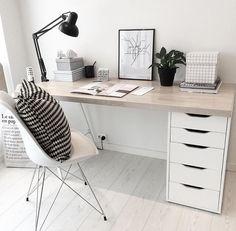 Home Office Storage, Home Office Space, Home Office Design, Home Office Decor, Desk Inspiration, Decoration Inspiration, Study Room Decor, Bedroom Decor, Bohemian Living Spaces