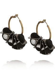 Lanvin Gold-tone faux pearl earrings | NET-A-PORTER