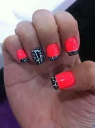 Cool idea. Maybe switch the colors on the accent nail and do a red french tip.