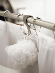Shower Rod Hooks | 33 Insanely Clever Things Your Small Apartment Needs