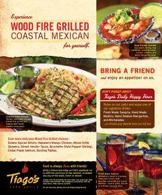 Tiagos Restaurant Print Ad