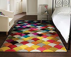 Spectrum Jive - Tapis de créateur/tapis moderne - motif abstrait - multicolore 160 x 230cm: Amazon.fr: Cuisine & Maison