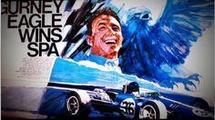 George Bartell Art of Dan Gurney's GP Spa victory